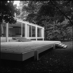 Modern Country II (argentography) Tags: yashica 124 farnsworthhouse miesvanderrohe modern architecture midwest illinois