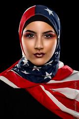 We the People (Jomoboy Photography) Tags: 5d3 australia canon beautiful canonmacro editing eqyption eyebrows eyeliner frequencyseperation hijab hijabi lips lipstick macro makeup model photoshoot wethepeople muslim flag usflag