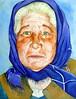 Old lady, by Adealex - DSC01508 (Dona Minúcia) Tags: art painting watercolor study paper portrait oldlady face scarf arte pintura expression aquarela retrato velha senhora woman lenço humanfigure figurahumana rosto xale