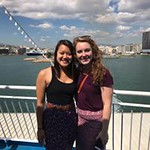 Honors students pose on the deck after boarding the boat to Samos.