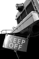 Keep Off (Laurence's Pictures) Tags: north dakota railroad museum train railway transportation freight bismarck burlington northern pacific soo line historic car
