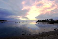 Evening sun (annemwo) Tags: water sea seaside coast shore beach sky clouds sun sunset sundown color nature landscape outdoor