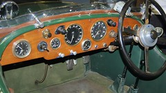 1933 Lagonda 16/80hp ST5 Four Seat Tourer, ALO 918 - Bonhams auction, RAF Museum, London (edk7) Tags: nikond50 edk7 2007 uk england london hendon royalairforcemuseum rafmuseum bonhamsauction 1933lagonda1680hpst5fourseattoureralo918 chassiss10254 engine2002 dashboard cockpit instrument gauge steeringwheel car automobile auto vehicle vintage classic historic
