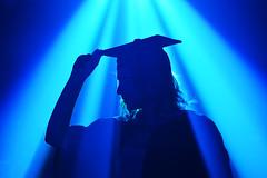 Graduation (Alex Hannam) Tags: graduation blue silhouette lights girl leicester