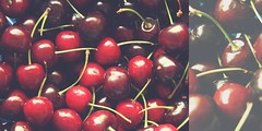 167/365 cherries (SarahLaBu) Tags: 365the2017edition 3652017 day167365 16jun17 cherries kirschen red rot diptych diptychon canoneos500d canonrebelt1i