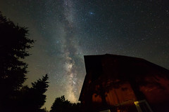 Galactic Barn (matthewkaz) Tags: milkyway stars astronomy night dark astrophotography barn redbarn longexposure trees silhouette home westbranch ogemawcounty michigan 2017 summer