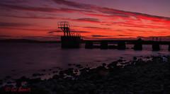 Lough Owel sunset (Leo Bissett) Tags: sunset lake loughowel westmeath mullingar ireland pier harbour shore rocks cloud jetty diving