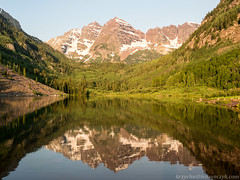 Maroon Bells sunrise, Aspen, Colorado