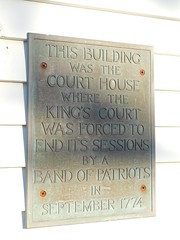 Old Colonial Courthouse Plaque (jimmywayne) Tags: massachusetts courthouse countycourthouse barnstable barnstablecounty historic
