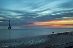 The start of the Blue Hour (Carl Yeates) Tags: cloudsstormssunsetssunrises canon550d crosby merseyside blue beach clouds movement sunset sea colours longexposure