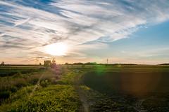 Un petit couché de soleil (sebastiencadorette) Tags: sunset sun clouds landscape sky hdr