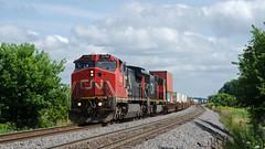 CN2196ByronWI7-22-17 (railohio) Tags: cn trains byron wisconsin d7000 072217 c408w canadiannational intermodal byronhill