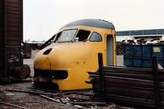 BPk 959 (lex_081) Tags: 11g06 hks hksmetals metals amsterdam westhaven bpk 959 plan v planv 19870530 koek firma d236 1220 803 kopenhagen hoek van holland trein 5037 skull train ghost ns scrap yard