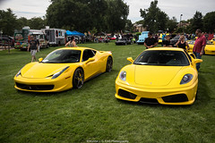 Generations (Hunter J. G. Frim Photography) Tags: supercar colorado ferrari 458 italia spider yellow red italian v8 coupe convertible ferrari458 ferrari458italia f430 rr430 giallo modena ferrarif430