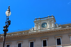 Rome (daiqing88) Tags: clock lamp post rome square italy