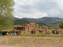 Place of the Red Willow (Rev.Gregory) Tags: taos pueblo nm newmexico placeoftheredwillow red willow native american community adobe dwellings traditional colors turquoise hills mountains