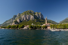 ° Lecco (° Ivan) Tags: lecco lombardia lombardy italy italia alps resegone mountain church catholic bell tower high sky lake como adda river blue green city landscape scape skyline nature polarizer