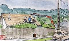 La France des Sous-Préfectures 43 (chando*) Tags: croquis sketch aquarelle watercolor france