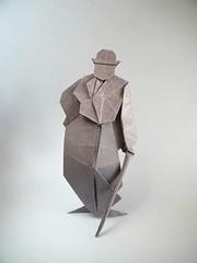 Charlot - Kaze (Rui.Roda) Tags: origami papiroflexia papierfalten figura humana human figure charlie chaplin charlot kaze
