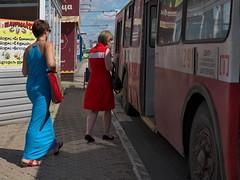 girl in red dress white stripe DSCF0535 Dmitri Bender Flickr (Reasonable Excuse) Tags: izhevsk ижевск троллейбус белая полоса
