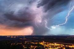 Orage du 30 juillet 2017 (Regarde là-bas) Tags: orage eclair thunder storm foudre impact lightning bolt amberieu ain france