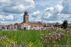 Zomers Deventer (Hans van Bockel) Tags: 1680mm binnenstad boten city d7200 deventer front hdr hansvanbockel ijssel lightroom nef nikon photoshop raw rivier skyline stad stadsfront wilhelminabrug zomer thenetherlands nld worp bolwerksweg explore wow
