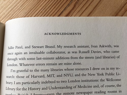 The Ghost Map - acknowledgements