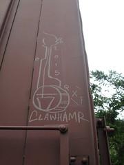 Clawhamr (Railroad Rat) Tags: graffiti british columbia canada moniker street art nature forest