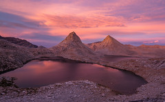 Last Out (Dancing.With.Wolvez) Tags: sierra mountains summer 2015 2016 2017 glow sunset high country alpine lake pink granite sand water cold altitude california desert camping backpacking mammoth