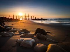 許厝夕陽 (Y.P. Jhou) Tags: 許厝 台灣 旅遊 攝影 夕陽 風景 海岸 travel taiwan landscape sunset seashore rocks
