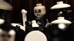 Spooky Drummer (A&M Studios) Tags: lego brickfilm metal musicvideo music skeleton spooky drummer drumset
