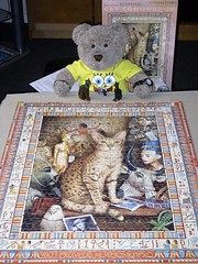 Pussy cat pussel (pefkosmad) Tags: jigsaw puzzle hobby leisure pastime 1000pieces used complete secondhand