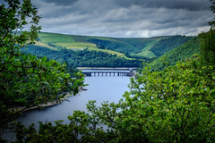 """Nothing but Green. (Ian Emerson """"I'm Back"""") Tags: water wales valley viaduct architecture arches hills reservoir elan trees clouds"""