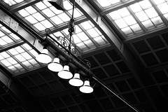 Central station, Stockholm (andersåkerblom) Tags: lamps ceiling blackandwhite monochrome centralstation