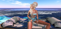 ✿The ocean✿ (Sydney Levee) Tags: ocean mer mare bleue blue maitreya tatoo mesh body hair emotion vista lelutka ever yza addict firestorm viewer france lacanau maps cartes monde world fantasy woman femme girl elfe extraordinaire science marine wave vague mode fashion amour réel virtuel virtual realeases yeliz short aimer pensées bord plage hamac hurley skin continent romantic landscape pretty post pinup composition story stories decor nature roleplay