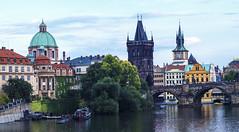 Like a Painting (Tom Mrazek) Tags: landscape city street river urban architecture cityscape summer colors prague vltava castle panorama embankment bridge czech republic czechia zeiss