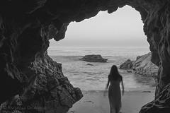 (RaffaLUCE) Tags: cave monochrome silhouette blackandwhite mystery ocean rocks longexposure fujixt1