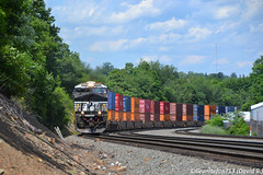 NS 8026 GE ES44AC (23Z) (Trucks, Buses, & Trains by granitefan713) Tags: ns norfolksouthern pittsburghline pitl nspittsburghline altoona railroad railfan ge generalelectric gevo gees44ac es44ac evolutionseries stacktrain intermodal im container wells wellcar spinecar train freighttrain nikon nikond3100 d3100