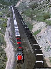 Coal on the Mountain (jamesbelmont) Tags: railroad coal utahrailway unionpacific soldiersummit gilluly utah drgw locomotive sd40 emd