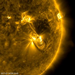 July 14 Solar Flare and a Coronal Mass Ejection (NASA's Marshall Space Flight Center) Tags: nasa nasas marshall space flight center goddard gsfc solar system dynamics observatory sdo sun flare coronal mass ejection