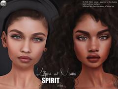 SPIRIT Skins - Kitjana & Moana (Mili Forte) Tags: miliforte spirit spiritstore spiritskins catwa catwahead catwaskin meshhead uber