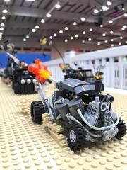 FDK @ STACK Bahrain 2017 (willgalb) Tags: stack 2017 bahrain diorama truck moc car postapocalypse wasteland furyroad flamethrower beetle volkswagen fdk madmax lego