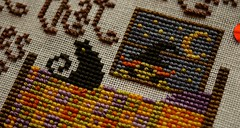 """Witchy Remedy (GATACA1952) Tags: """"crossstitch"""" embroidery floss threads decoration texture craft handmade halloween spooky autumn fall holidays """"allhallow'seve"""" hallowe'en witch thegentleart cat"""