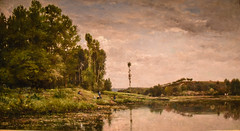 Charles François Daubigny - Banks of the Oise at Auvers, 1863 at Saint Louis Art Museum - St Louis MO (mbell1975) Tags: stlouis missouri unitedstates us charles françois daubigny banks oise auvers 1863 saint louis art museum st mo saintlouis stl slam museo musée musee muzeum museu musum müze museet finearts fine arts gallery gallerie beauxarts beaux galleria painting landscape paysage french