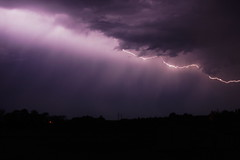 Stormy Weather (Valley Dweller 68) Tags: lightning storm stormy thunderstorm night clouds skies bolt canada sony a77ii prairies praire manitoba