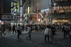 七夕渋谷 (kasa51) Tags: people street night tanabatadecolation shibuya tokyo japan 七夕飾り starfestival