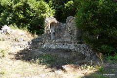 0014 Private Residence, Triconch Palace, possible fountain, Butrint (4) (tobeytravels) Tags: albania butrint buthrotum illyrian triconchpalace