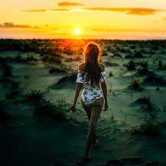 Endless. (FlorianPascual) Tags: ifttt 500px sky girl sea sunset water nature beach travel sun ocean vacation summer woman sand bikini dawn seashore tropical leisure fair weather