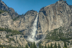 at Yosemite National Park (paweesit) Tags: mountain waterfalls falls yosemite yosemitenationalpark us unitedstatesofamerica california nationalpark rock rockclimbing granite park wilderness landscape nature sky scenery view perspective scene