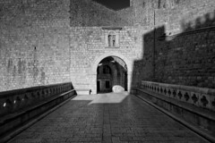 Entrance to the fortress (V Photography and Art) Tags: fortress citywalls town walls stone protection arch entrance gate light shadows pattern texture contrast monochrome mono blackandwhite stronghold structure building architecture croatia
